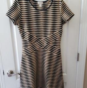 Tan and Black Loft Dress